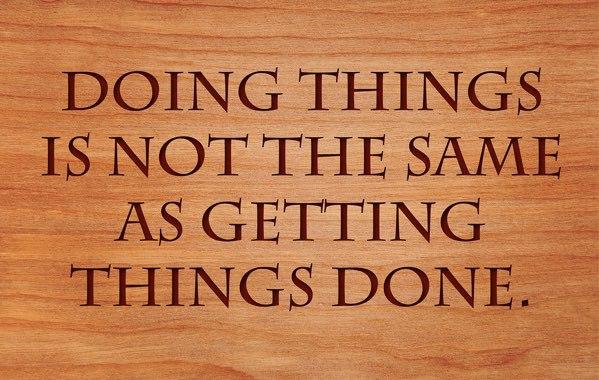 Få saker gjorda